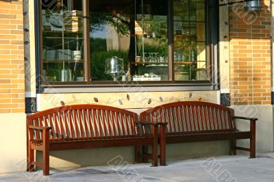 Benches at Restaurant
