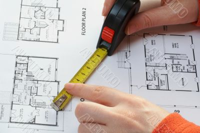 measure and architectural plan