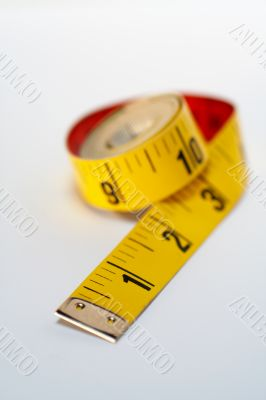 Yellow tape measure macro