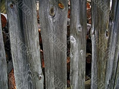 Background - old grey fence boards.