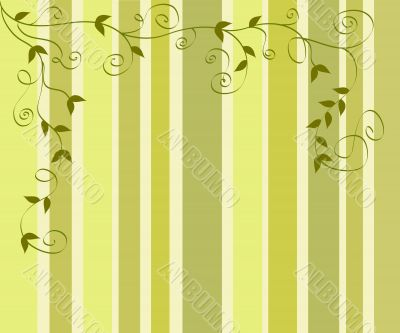 Foliage on stripes