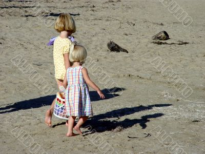 Blond Girls On The Beach