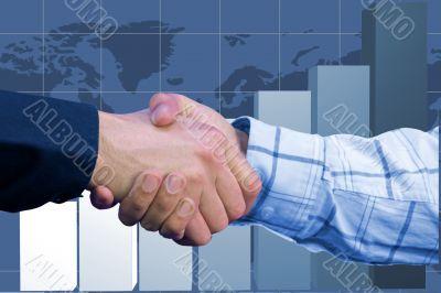 business deal - column chart