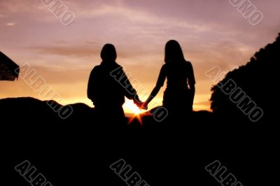 Andes sunset - couple