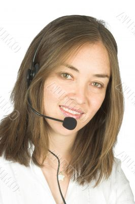 beautiful business customer services rep