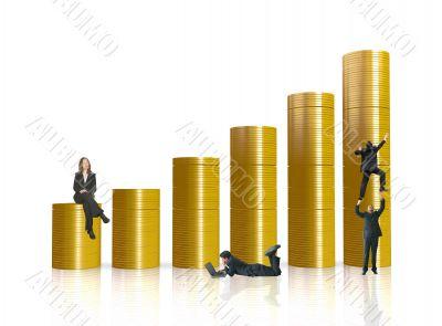 business financial environment - coin graph