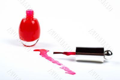 Red fingernail polish