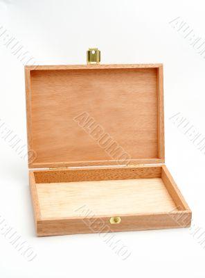 Open wood box empty