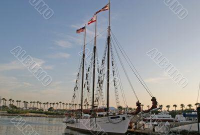 Three Masts at Dawn