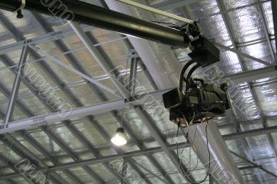 Hanging television camera