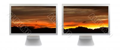 Two flat panels lcd