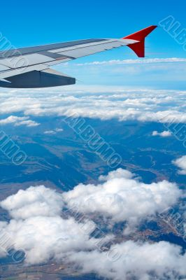 Aerial view from airplane
