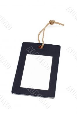 Blank price tag closeup