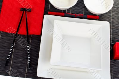 Table setting for a dinner