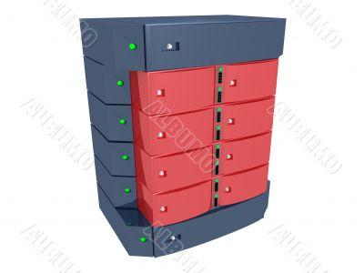 Dual Server - Red