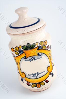 Old white jar