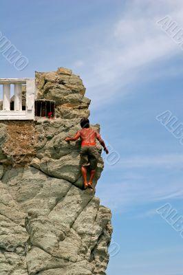 Cliff Diver Climbing