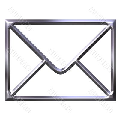 3D Silver Envelope