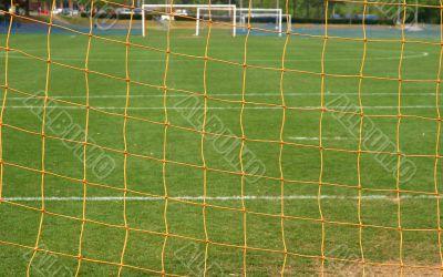 Soccer Field Through Goal
