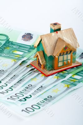 House and euro bills