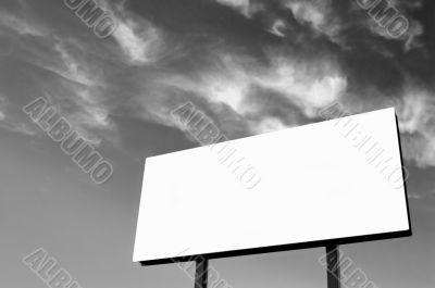 Black and white billboard