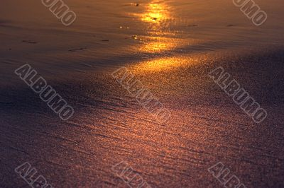 golden rays of sunlight on sand