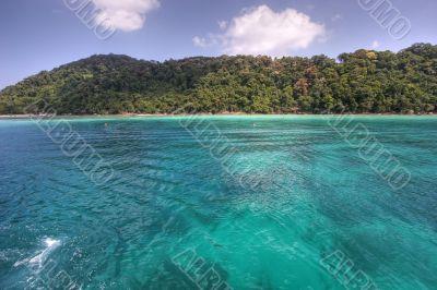paradise on turquoise