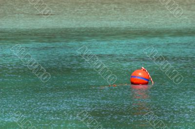 buoy on turquoise