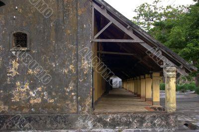 old prison`s hallway
