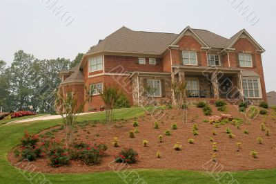 House on Landscaped Hill