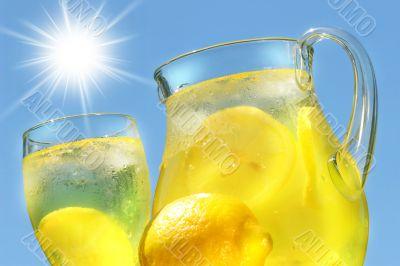 Cool lemonade on a hot summer day