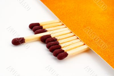 One match stick spent among match sticks