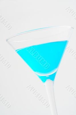 Detail of blue cocktail
