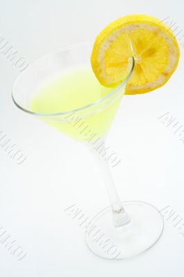 Green cocktail with lemon