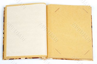 Antique scrapbook for one image per page