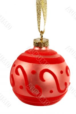 One red Christmas ball