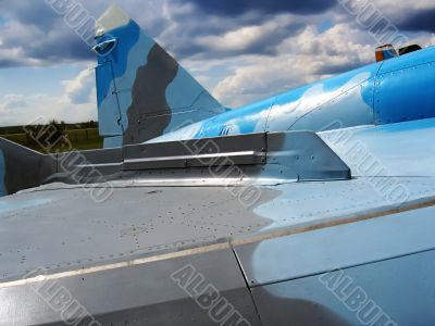Wing of the plane Mig-29
