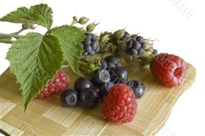 bilberries,blackberry and raspberries,