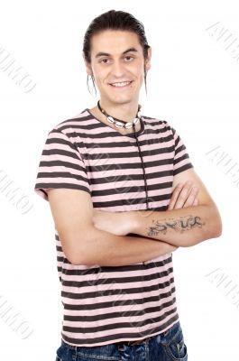 boy whit t tattoo