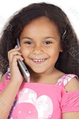 girl speaking on the telephone