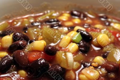 Wide Angle Black Bean Soup