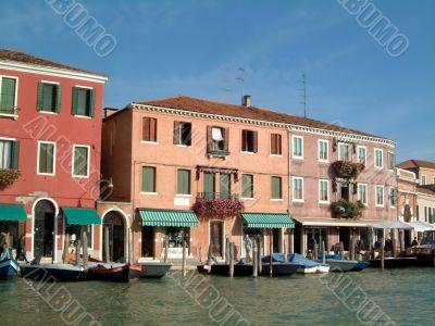 Waterfront shops Murano