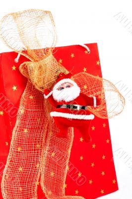 Santa Claus and red bag
