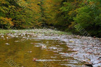Mountain River in autumn