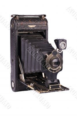 Antique folding camera