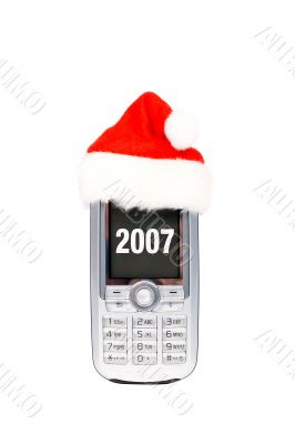 Happy new year mobile phone