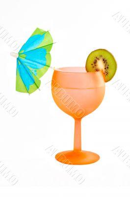 Cocktail of kiwi and umbrella