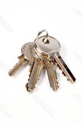 A some keys with shadow