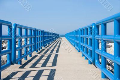 Walkway In Blue