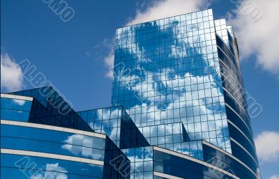 Glass Building in Blue